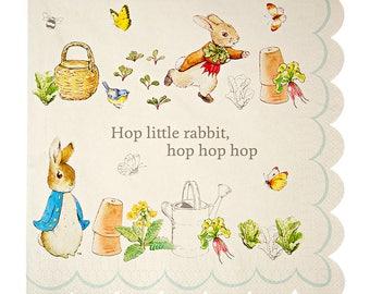 Peter Rabbit Paper Party Napkins, Peter Rabbit Party Tableware, Peter Rabbit Birthday, Peter Rabbit Baby Shower, Christening,