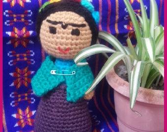Amigurumis De Frida Kahlo : Frida kahlo amigurumi marcapáginas crochet youtube crochet