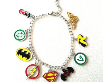 Justice League Charm Bracelet