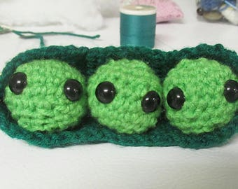 Peas-in-a-pod Pattern - Crochet Pattern - Crochet - Amigurumi - Pattern