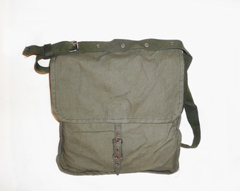 Vintage Military Bag School canvas bag, men messenger bag Bag for ipad, military backpack, messenger bag Crossbody bag Collectibles