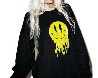 Acid Trippin' Sweater // Acid Sweater // 90s Grunge // Acid // 90s Clothing // Sea Punk // Trippy