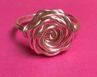 Rose of Courage, Wire Ring for Breast Cancer