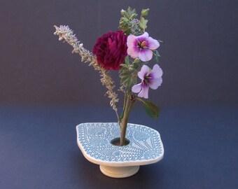 Doily Lace Ikebana Pottery Vase
