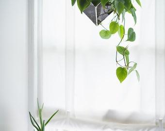 Iridis Terrarium, large -- for air plant terrarium or small succulent -- stained glass -- terrarium supplies -- eco friendly