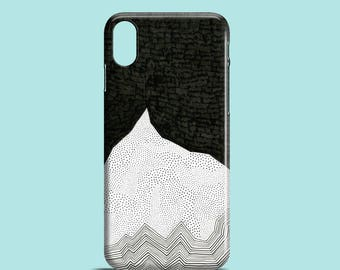 The Peak phone case,  monochrome phone case iPhone X, iPhone 8, iPhone 7, iPhone 7 Plus, iPhone 6S iPhone 6 iPhone SE, mountain phone cover