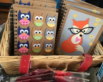 Owls A5 lined notebook