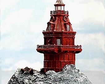 New Harbour Lights SHIP JOHN SHOAL Delaware Lighthouse,  HL245,  Bill Younger,   Never Displayed