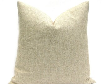 15% Off Sale TAN PILLOW,Decorative Pillow Covers, Burlap Pillow Cover ,SOLID pillow, Cushion Cover , Sham - Pillowcase - Sofa Pillows  - Hou