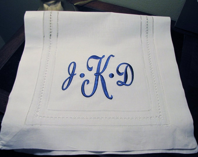 Custom Monogrammed Linen Table Runner for Head Table, Cake Table, Dining Room Table