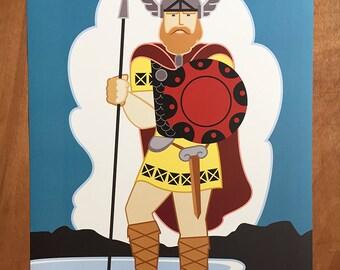 "Big Ole,Viking, 18x 24"" poster"
