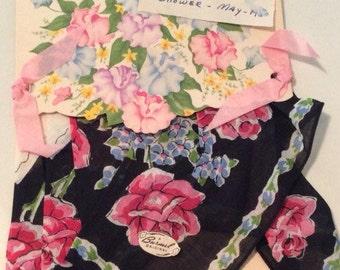 Burmel Original Hankie, 1950's Burmel Original Handkerchief, Vintage Burmel Original