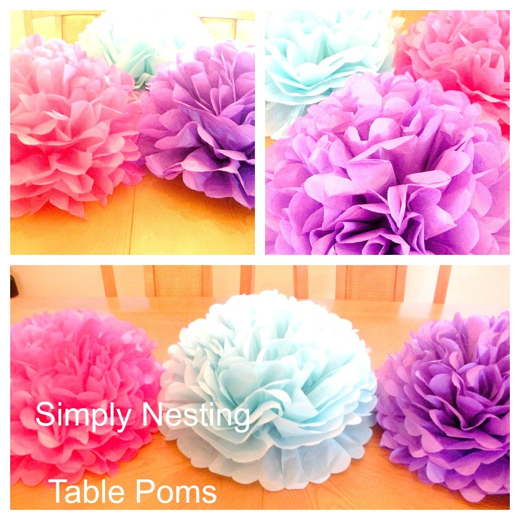 1 table centerpiece tissue paper pom pomtable zoom solutioingenieria Images