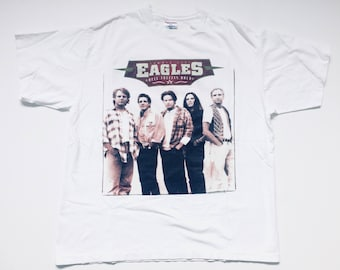 Vtg. Eagles Hell Freezes Over Tour Vintage 90s Classic Rock T-Shirt / Size XXL