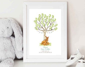 Bambi Fingerprint Keepsake - BABY SHOWER - Christening - BIRTHDAY - Fingerprint tree