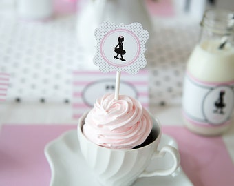 Little Miss Collection: Printable Cupcake Toppers
