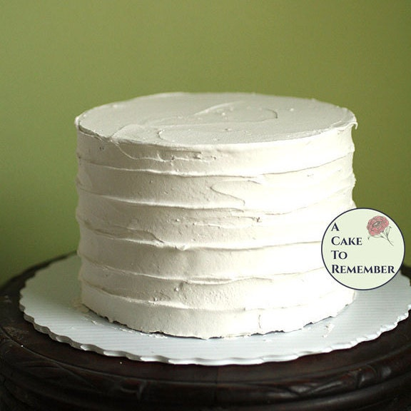 6 round fake cake with ridged icing for photo shoots and
