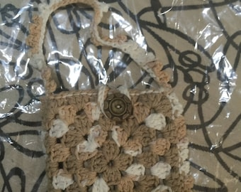Crocheted Granny Square Purse #134