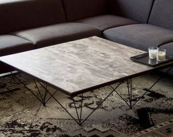 Coffee table, modern coffee table, Industrial coffee table, Handmade, square coffee table