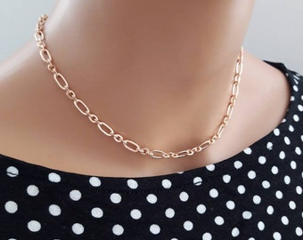 Rose gold choker necklace,rose gold chain choker,tattoo choker,boho choker,rose gold necklace,delicate choker,tattoo choker,gold choker