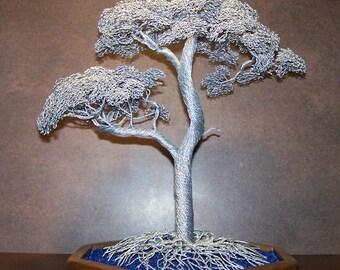 Double Twist Wire Tree Sculpture