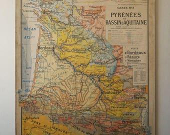 Vintage french map Etsy