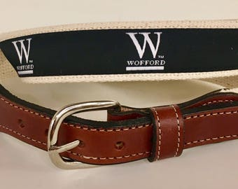 Wofford cotton Web Leather Belt