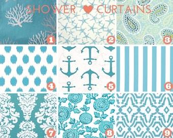 Stoff-Dusche Vorhang - Badezimmer Dekor - nautische Dekor - Küste Blau - Premier Drucke Stoff - 72 x 72 durchschnittliche Größe oder Größe wählen
