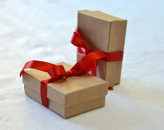 gift box with ribbon - 3 x 2 inches - Not to be purchased alone