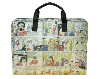upcycled laptop case women - laptop briefcase for women - padded laptop case - recycled laptop case - eco friendly gifts - recycled bag