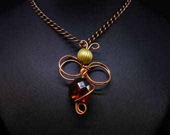 Copper Bee Necklace