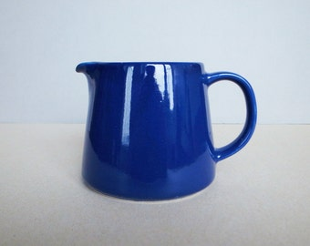 Finnish Vintage Kilta by Kaj Franck for Arabia Pitcher / Coffee Pot in Cobalt Blue Finland 60's
