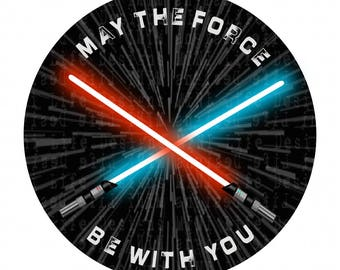 """Grill Badge- May The Force Be With YOU 3"""" magnetic grill badge"""