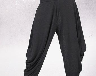Pants, Black pants, Woman Pants, wide skirt pants, long wide pants by UrbanMood - TA-011-VL
