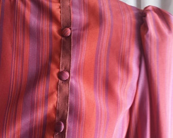 1970s striped secretary dress