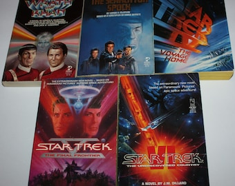 Lot of 5 Star Trek Motion Picture Movie Paperback Books Pocket 1980's