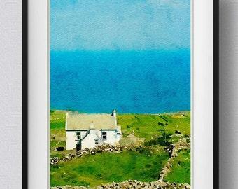 Ireland print,Kerry Seaside,painting,watercolor,wall art,Pic no 10