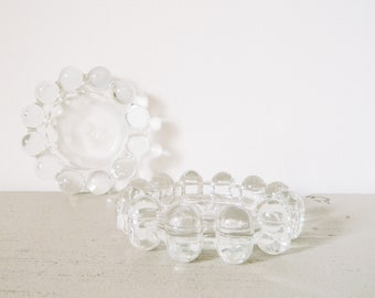 Glass Candle Holder 70/vintage Candle Holder glass bubble/glass plate candle Holder/Candle Holder glass/Glass Plate