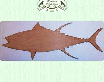 Tuna-  (Large ) Wood Cut Out -  Laser Cut