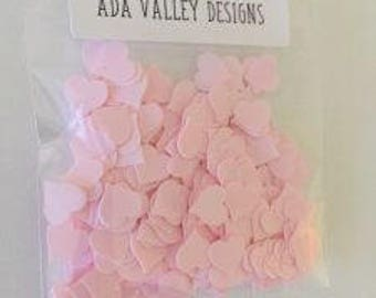 Pale Pink Heart Confetti | Sequin | Confetti Mix | Shaker Card Mix