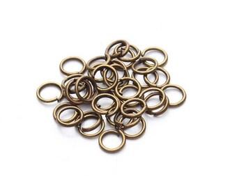 200 bronze open jump rings, 5mm