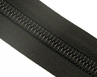 10C YKK Nylon Zipper Tape By The Yard - Black