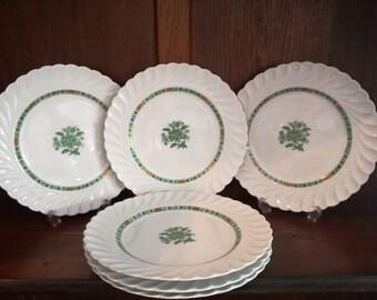 Dinner plates  Haviland plates  Limoges plates  Set plates  serving dishes  CASHMERE & Salad Plates Limoges Plates Floral Plates Fuschia