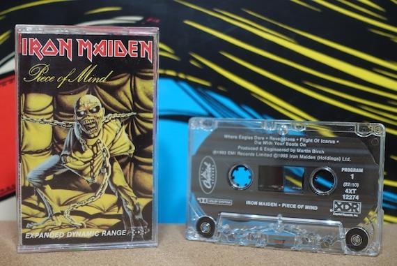 Piece Of Mind by Iron Maiden Vintage Cassette Tape
