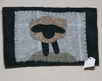 Wool sheep applique
