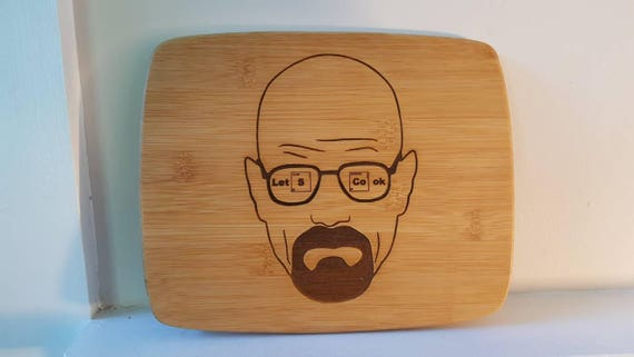 """Breaking Bad inspired cutting board """"Let's Cook"""""""