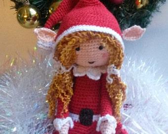 Haakpatroon kerstelfje Twinkle / Crochet pattern christmas elf