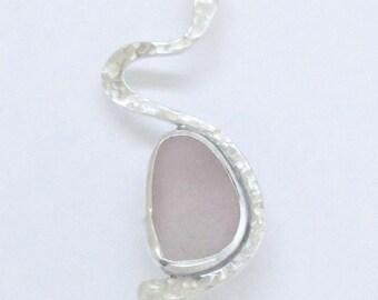 Sea Glass Jewelry - Sterling Lavender Sea Glass Pendant