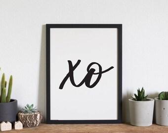 xo // hugs // kisses //sweet wall art // lovers