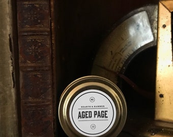 Aged Page Travel Tin Literary Candle